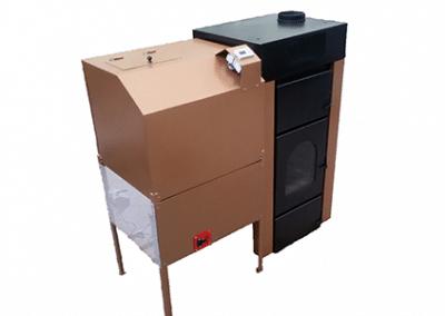 KAS 30V – пелетен котел  с въздушна риза и въздуховоди